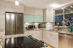 Kitchen in Modern Home Royalty Free Stock Image