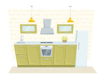 Kitchen modern interior Royalty Free Stock Photos