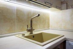 kitchen modern sink Στοκ Φωτογραφίες