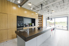 Kitchen in modern style Stock Photography