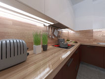 Kitchen modern style Stock Photo