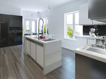 Kitchen in modern style Royalty Free Stock Photo