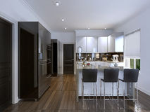 Kitchen in modern style Royalty Free Stock Photos