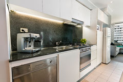 The kitchen with modern style Stock Images
