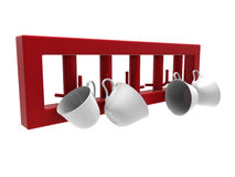 Kitchen mugs holder Royalty Free Stock Photo
