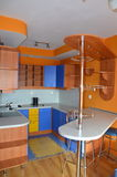 Kitchen. In my sunny flat Royalty Free Stock Photography