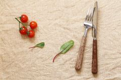 Napkin for food background Stock Photos