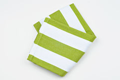 Kitchen napkin on white background. Kitchen napkin on a white background Stock Photography