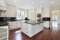 Kitchen in new construction home Royalty Free Stock Image