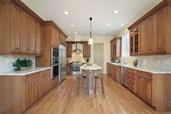 Kitchen in new construction home Stock Photography