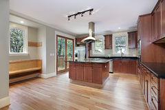 Kitchen in new construction home Royalty Free Stock Images