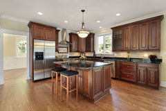 Kitchen in new construction home Royalty Free Stock Photos