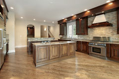 Kitchen in new construction home Stock Images