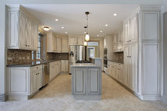 Kitchen in new construction home Royalty Free Stock Photo