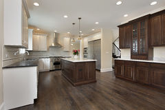 Kitchen in new construction home Stock Photo