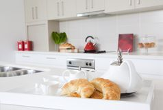 Kitchen in new modern townhouse Stock Image