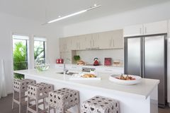 Kitchen in new modern townhouse Stock Photography