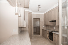 Kitchen of Newly Build House. The kitchen of a newly build house which is up for sale Royalty Free Stock Image