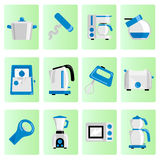 Kitchen object set Royalty Free Stock Images