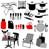 Kitchen objects Royalty Free Stock Images