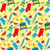 Kitchen objects. Illustration of kitchen objects pattern Stock Images