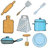 Kitchen objects Royalty Free Stock Image