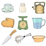 Kitchen objects Stock Images