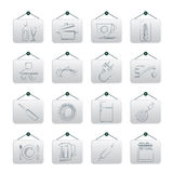 Kitchen objects and accessories icons Royalty Free Stock Photography