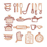 Kitchen objects Stock Photography
