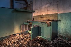 Kitchen. Old farm in Heythuysen, Netherlands Royalty Free Stock Photos