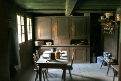 Kitchen in the old style. Old way of life, retro kitchen Royalty Free Stock Photos