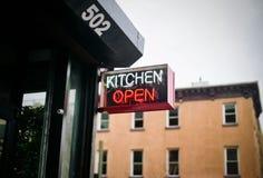 Kitchen open sign