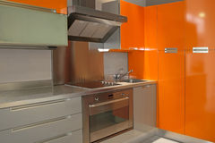Kitchen orange Royalty Free Stock Photos