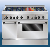 Kitchen oven illustration Stock Photo