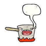 Kitchen pan cartoon Stock Photo