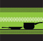 Kitchen pan illustration Stock Photography