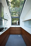 Kitchen with panoramic window Stock Photo
