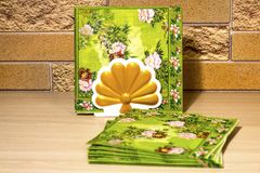Kitchen paper napkins for hands. royalty free stock photo