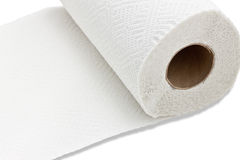 Kitchen paper towel. Paper towel on white background Stock Image