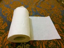 Kitchen paper towel royalty free stock photo