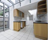 Kitchen with patio stock photos