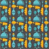 Kitchen  pattern. Colorful Kitchen  pattern, vector illustration Stock Photos
