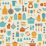 Kitchen pattern Royalty Free Stock Photos