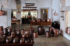 The Kitchen at the Pena National Palace, Sintra, Portugal Stock Photo
