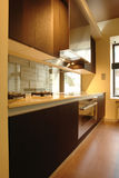 Kitchen in perspective. Part of kitchen in perspective Royalty Free Stock Photography