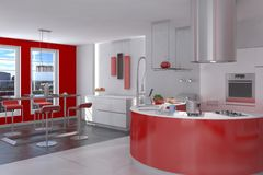 Kitchen Photo realistic Render Royalty Free Stock Photography