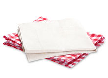Kitchen picnic clothes plaid isolated. Royalty Free Stock Photos