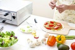 Kitchen, pizza, make Royalty Free Stock Photo