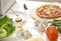 Kitchen, pizza, make Stock Image