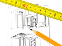 Kitchen plan Stock Image